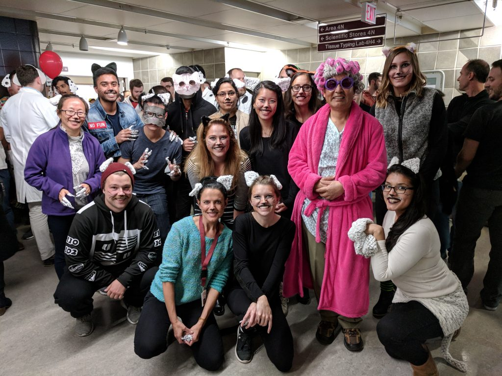 li lab places 3rd in the biochemistry halloween costume contest
